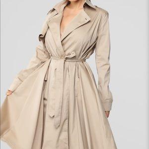 Beige over coat